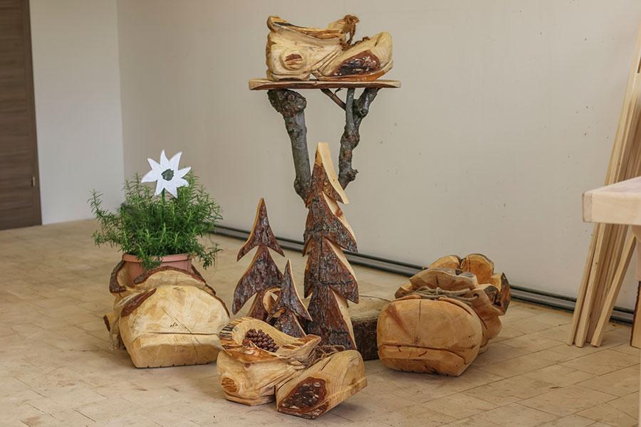 Impressionen Hinterglemmer Holzstube Holz Deko Unikate